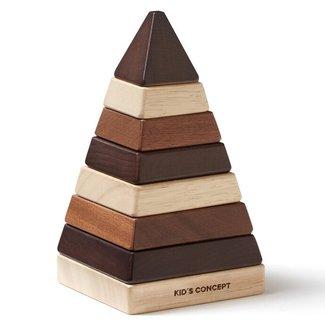 Kid's Concept Pyramide Stapelblokken - Naturel Neo