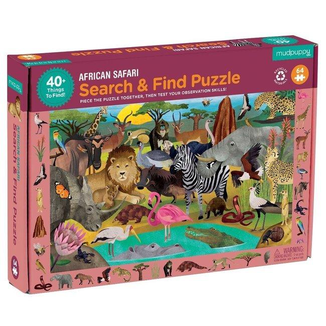 Mudpuppy African Safari - Zoek & Vind Puzzel - 64st