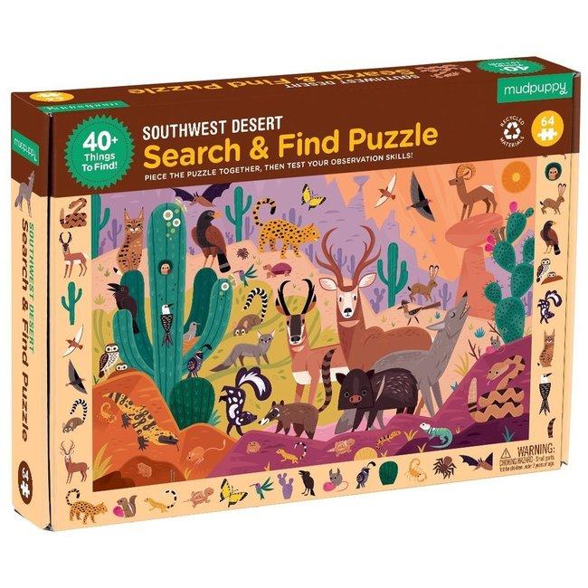 Mudpuppy South Desert - Zoek & Vind Puzzel - 64st
