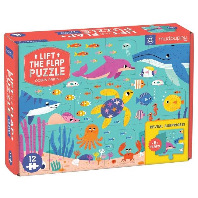 Mudpuppy Flapjespuzzel Oceaan - 12st