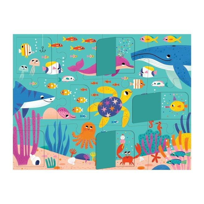 Flapjespuzzel Oceaan - 12st