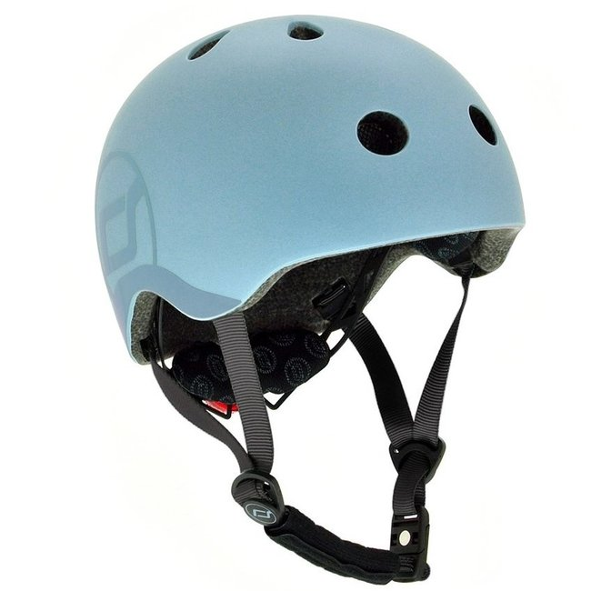 Scoot and Ride Fiets & Skate Helm Steel | Scoot and Ride