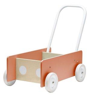 Kid's Concept Houten Loopwagen Abrikoos