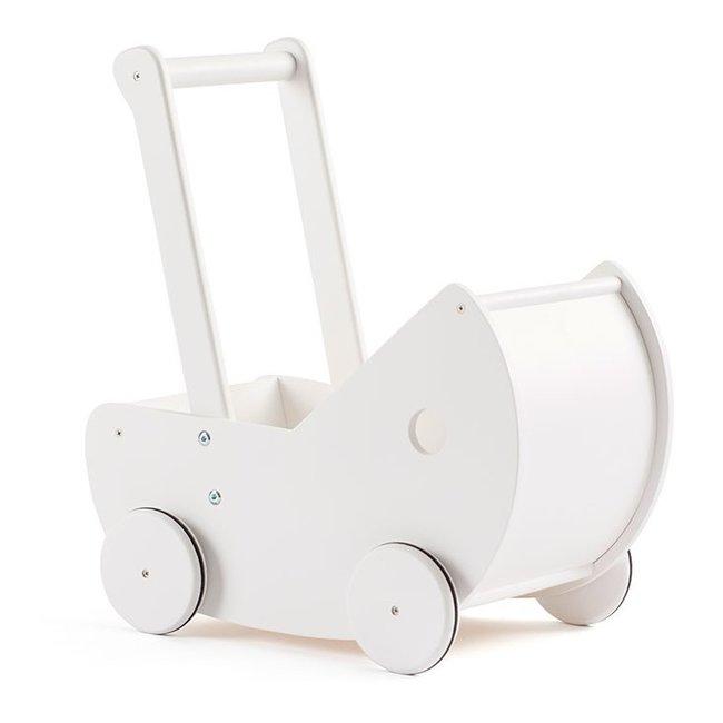 Kid's Concept Poppenwagen met matrasje WIT | Kid's concept