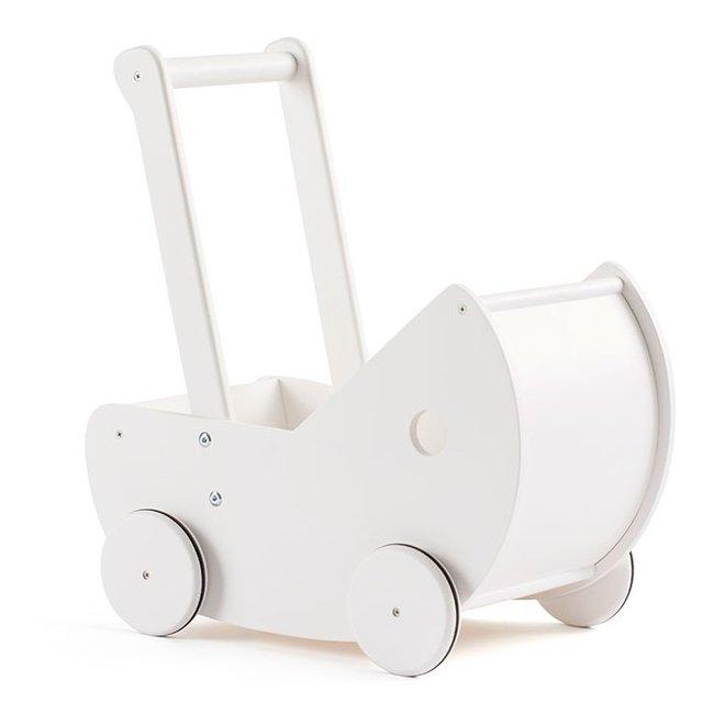 Poppenwagen met matrasje WIT   Kid's concept