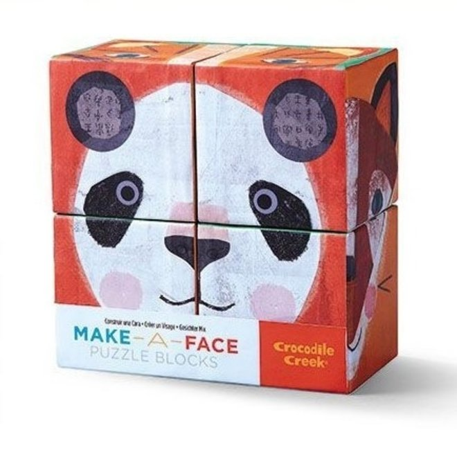 Blokkenpuzzel Make-a-Face 4 pcs | Crocodile Creek