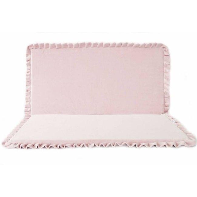 Velvet speelmat Roze 105cm - Vierkant   Miiimi