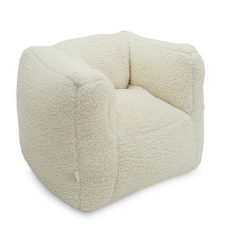 Jollein Kinderfauteuil / Beanbag Teddy Cream White
