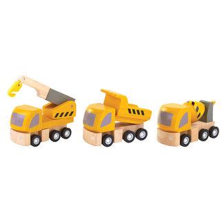 Plan Toys Werfvoertuigen - Set van 3
