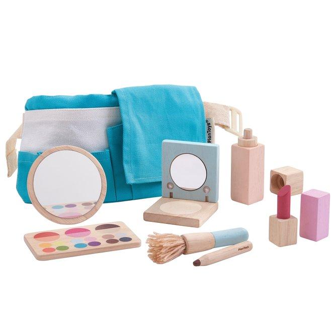 Houten Make-up Set met Tasje