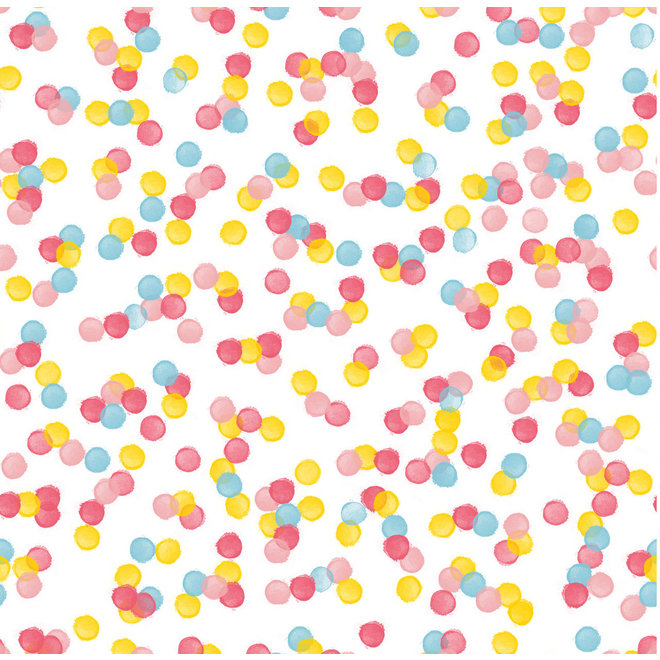 Confetti Eenpersoons dekbedovertrek 140x200/220cm