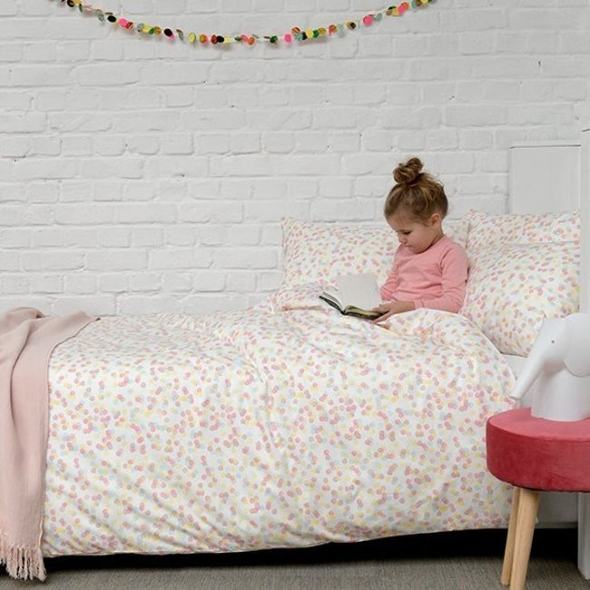 Home Linen Confetti Eenpersoons dekbedovertrek 140x200/220cm