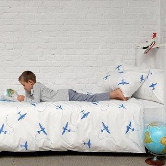 Home Linen Vliegtuigen Eenpersoons dekbedovertrek 140x200/220cm