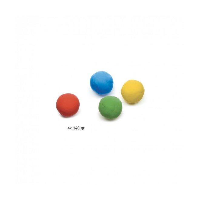 Boetseerklei 4 potjes  - Klassieke kleuren