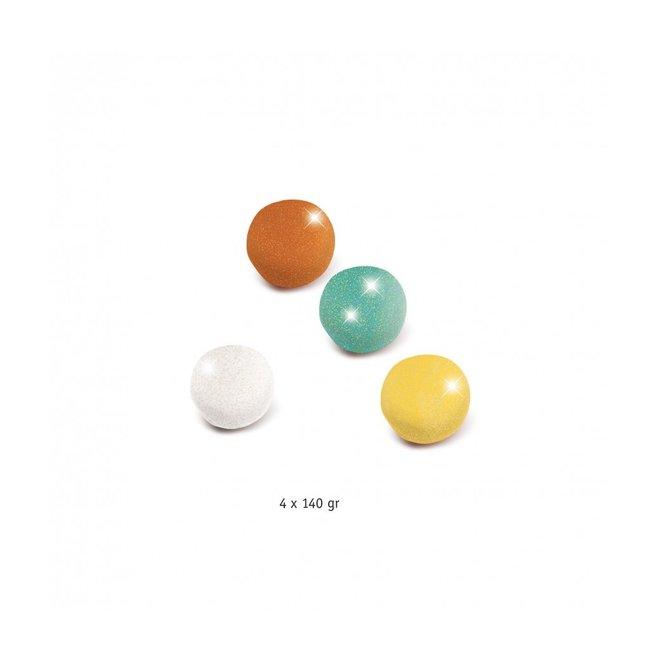 Boetseerklei 4 potjes  - Glitterklei