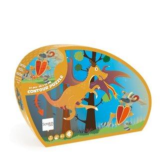 Scratch Contour Puzzel De Draak & De Ridder - 61st