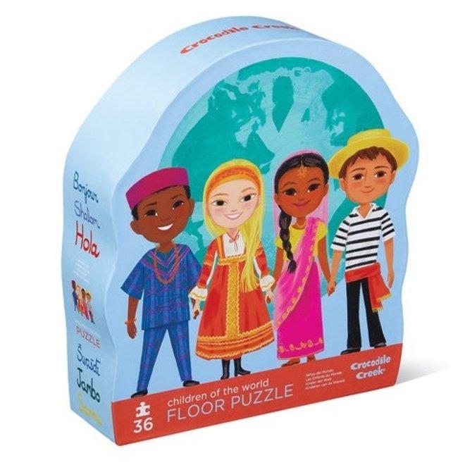 Vloerpuzzel Kinderen van de Wereld 36st