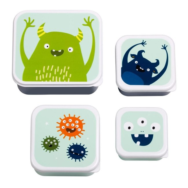 A Little Lovely Company Lunch & Snackbox set: Monsters