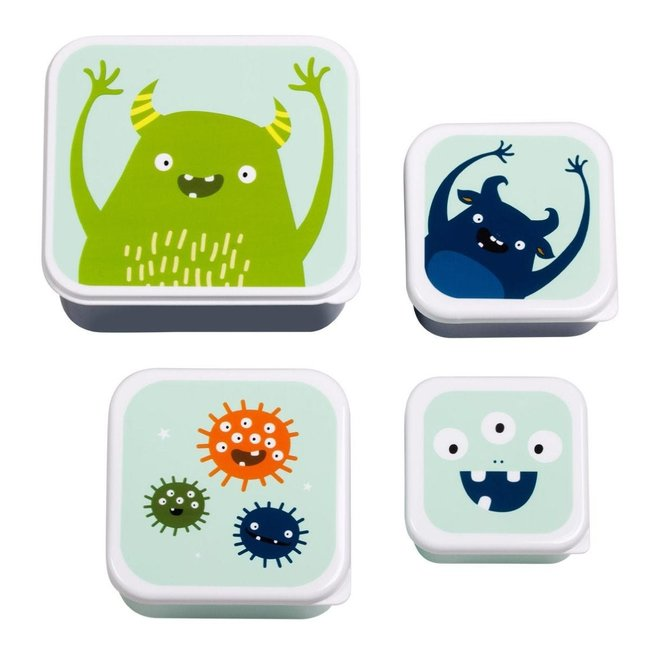 Lunch & Snackbox set: Monsters