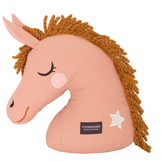 Kussen Paard - Oker