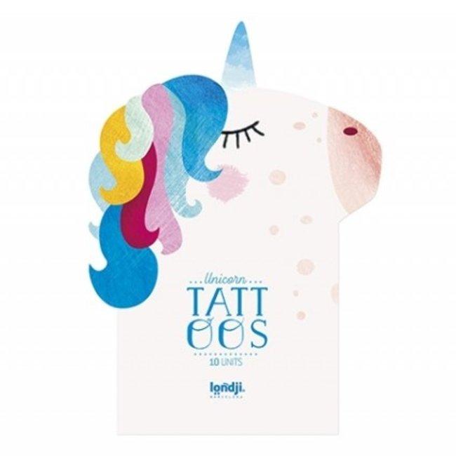 Londji Tattoos Set van 10 Unicorn | Londji