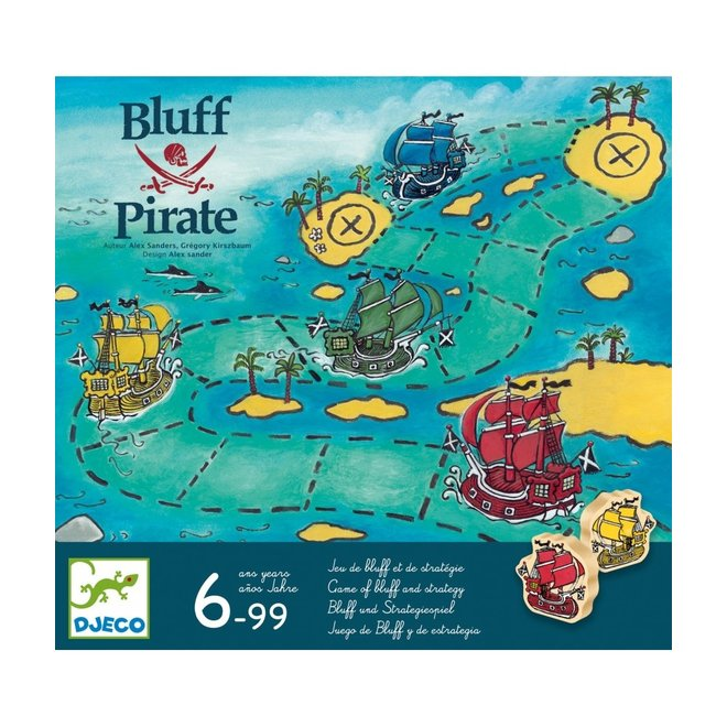 Strategie- en blufspel Bluff Pirate  | Djeco