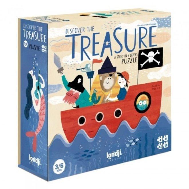 Discover The Treasure Puzzel (set van 4) |  Londji