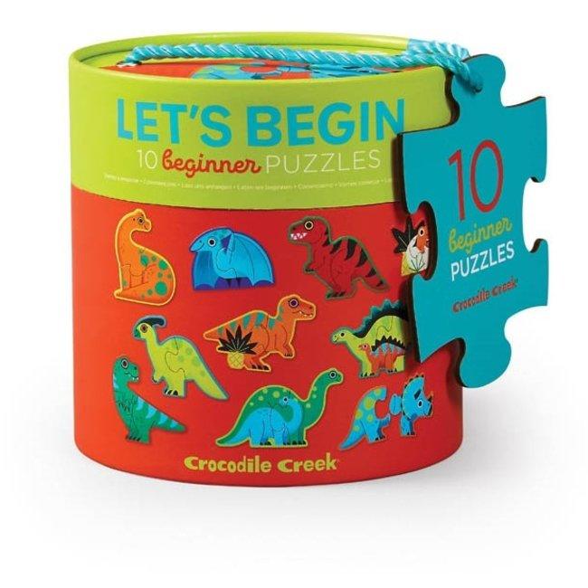 Crocodile Creek Let's Begin Dinosaurus - 10 Beginnerspuzzels