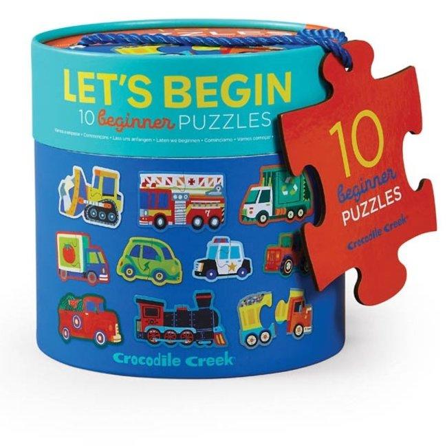 Let's Begin Voertuigen - 10 Beginnerspuzzels