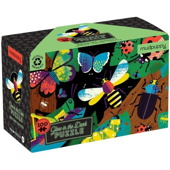 Mudpuppy Puzzel Glow in the Dark Amazing Insects – 100st