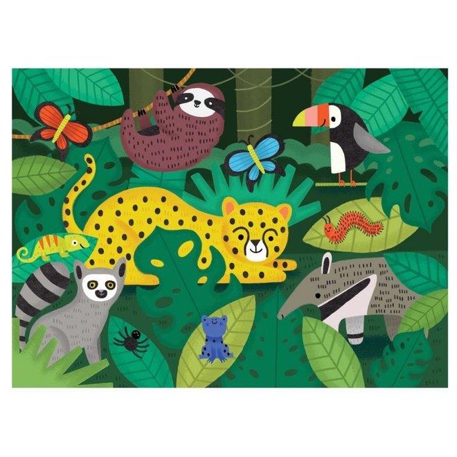 Fuzzy Puzzel – Regenwoud 42 stukken