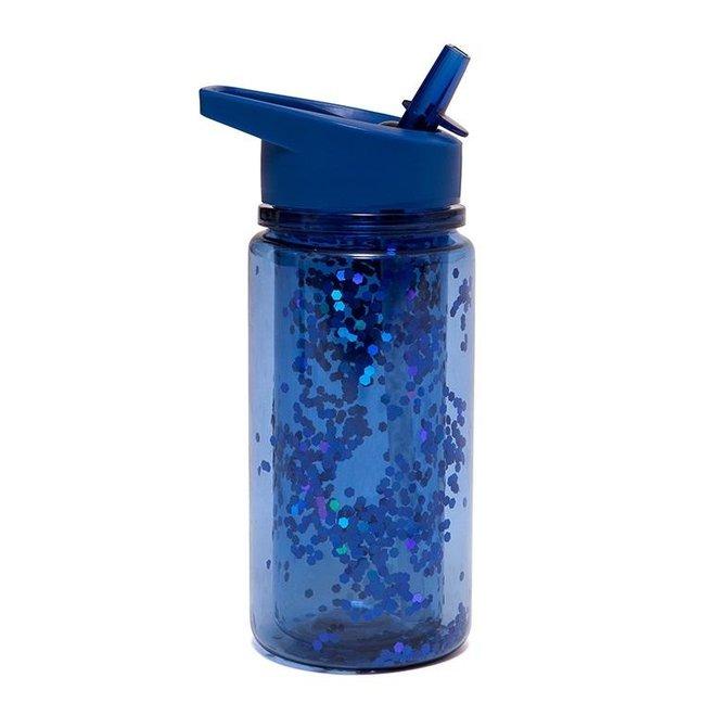 Drinkfles Glitter - Night blue