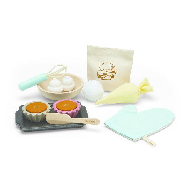 Plan Toys Houten Cupcake set