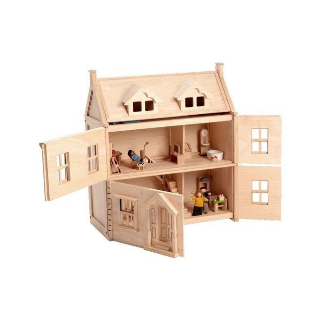 Victoriaans houten Poppenhuis