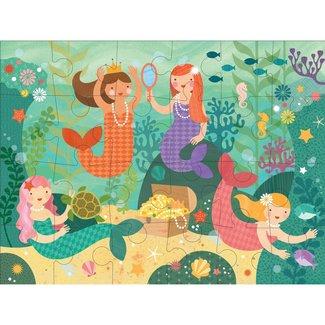 Petit Collage Vloerpuzzel Mermaid Friends - 24st