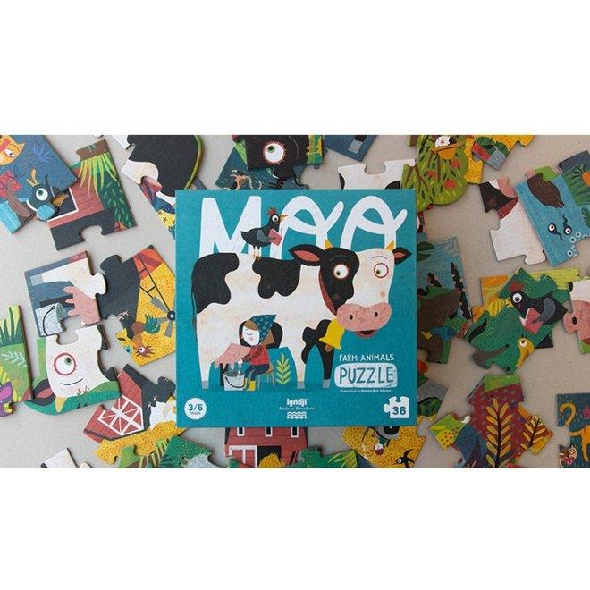 MOO Boederijdieren Puzzel (36st)   Londji