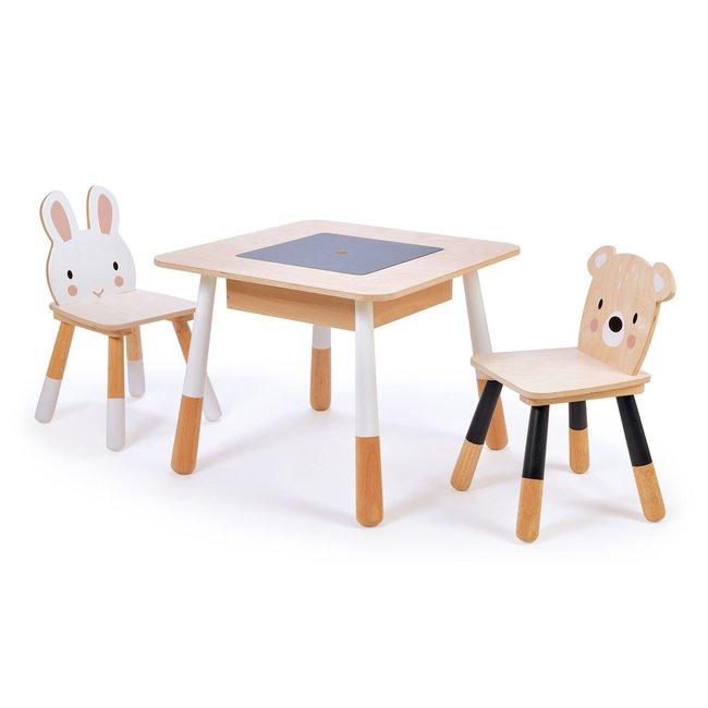 Tender Leaf Toys Kindertafel + 2 Houten Kinderstoelen