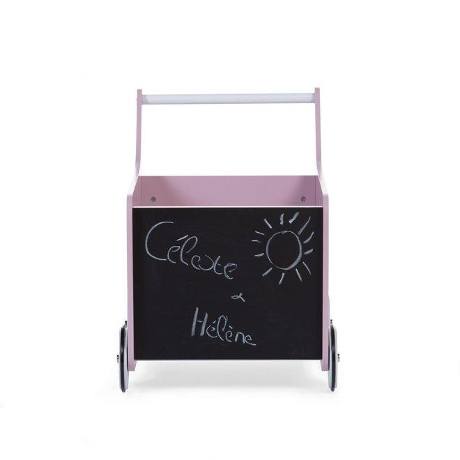 Houten Loopwagen Roze     Childhome