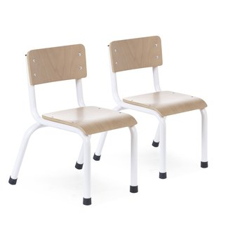 Childhome Kinderstoelen - Metaal/Hout set van 2