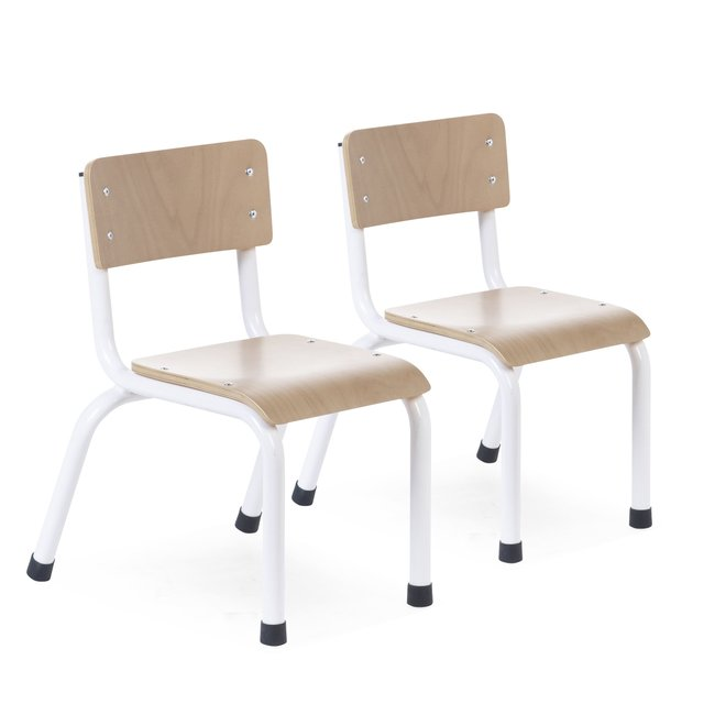 Kinderstoelen - Metaal/Hout set van 2