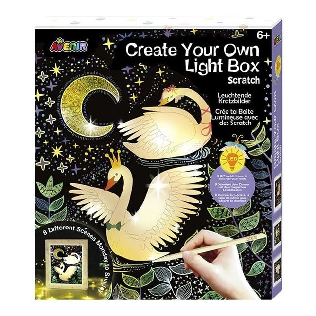 Avenir Knutselset - Maak je eigen Light Box met Kraspapier