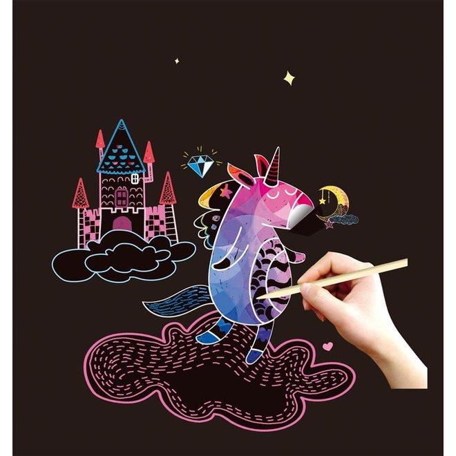 Teken & Kras set 3-in-1 - Magische wereld