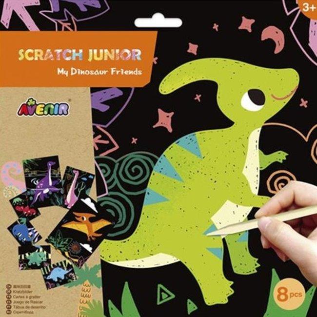 Krasplaatjes - Dinosaurus