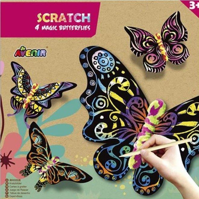 Krasplaatjes - Magische vlinders