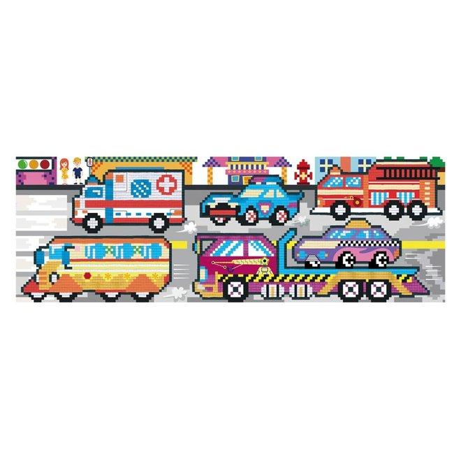 Pixelation Art - Transport XL Poster