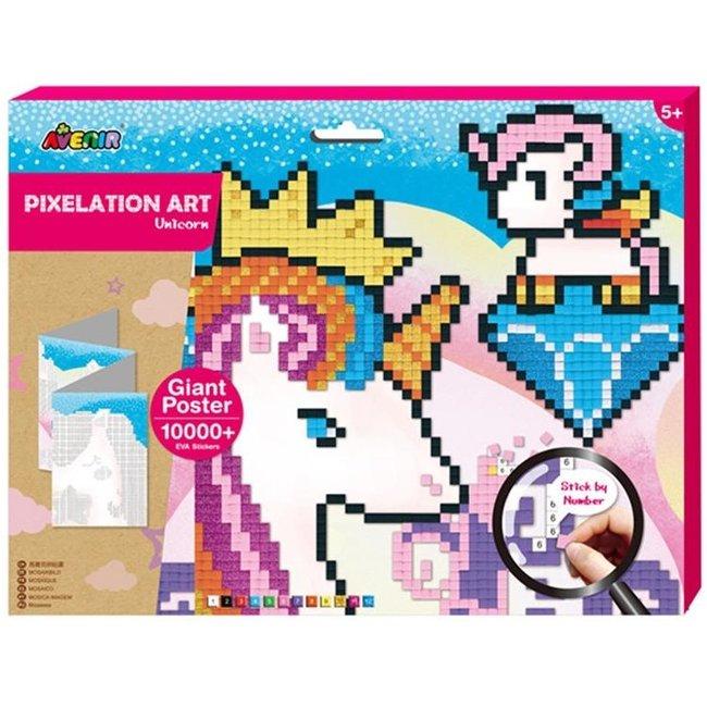 Pixelation Art - Unicorn XL Poster