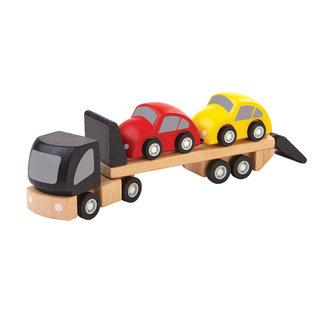 Plan Toys Car Transporter + 2 auto's