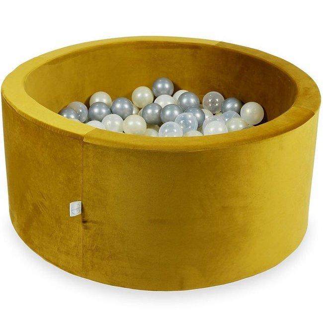 Ballenbad Velvet Goud 90x40 cm incl. ballen
