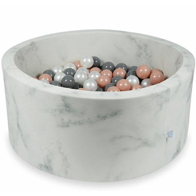 Moje Ballenbad Marble 90x40 cm incl. ballen