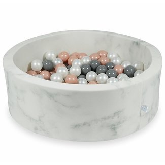 Moje Ballenbad Marble 90x30 cm incl. ballen